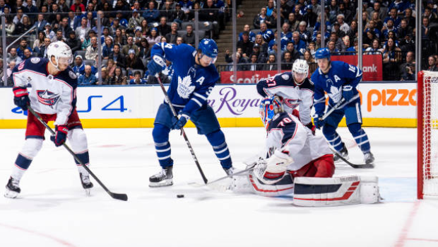 Debating the play - in showdown between the Toronto Maple Leafs and Columbus Blue Jackets