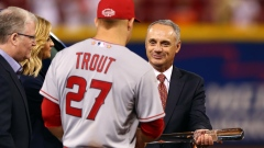 Rob Manfred Mike Trout