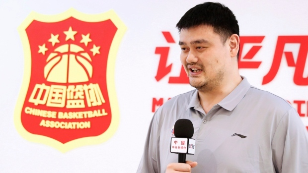 Chinese Basketball Association (CBA) President Yao Ming