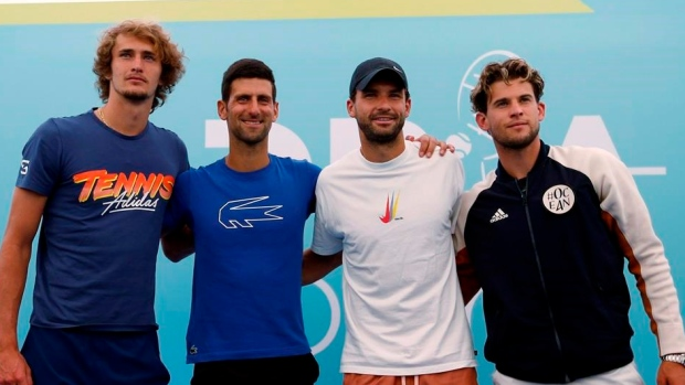 Zverev, Djokovic, Dimitrov and Thiem,