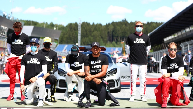 F1 Drivers End Racism/Black Lives Matter