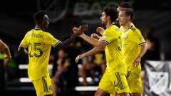 Youness Mokhtar Columbus Crew celebrate