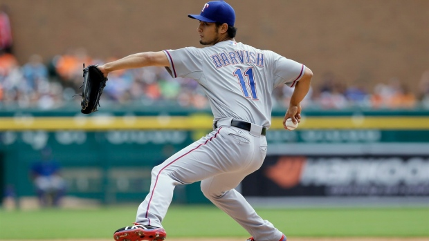 Rangers ace Yu Darvish scratched from start Tuesday at Minnesota because of neck stiffness Article Image 0