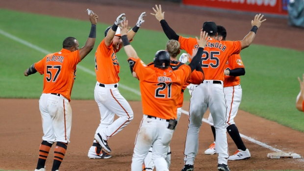 Baltimore Orioles celebrate