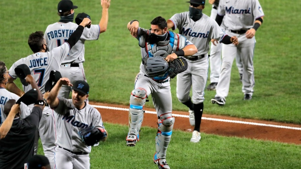 Miami Marlins celebrate