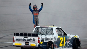 Smith scores first NASCAR win in overtime at Michigan