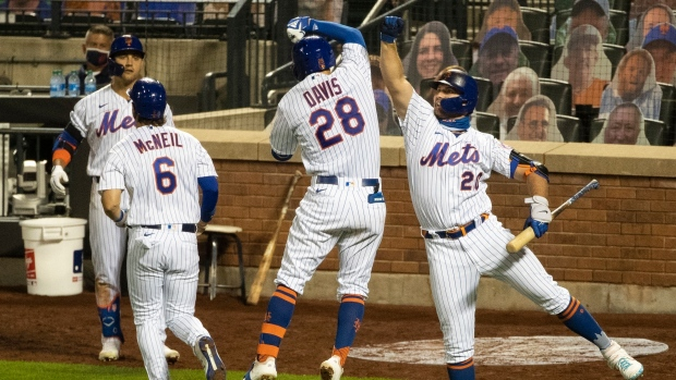 New York Mets celebrate