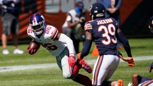 Giants RB Barkley diligent in rehabbing injured knee