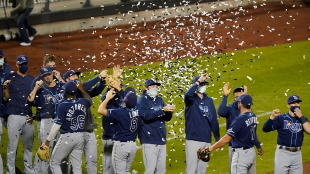Tampa Bay Rays beat New York Mets, clinch first AL East title in 10 years -  TSN.ca