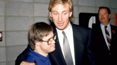 Wayne Gretzky and Joey Moss