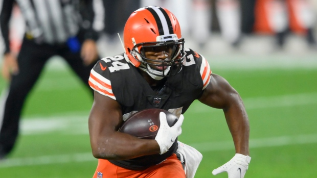 Browns' Chubb (calf) ruled out for Thursday night game
