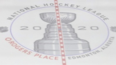 NHL centre ice logo Rogers Place