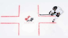 Hockey Canada logo on ice