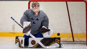 Top goalie prospect Wallstedt wants to be known for more than hockey