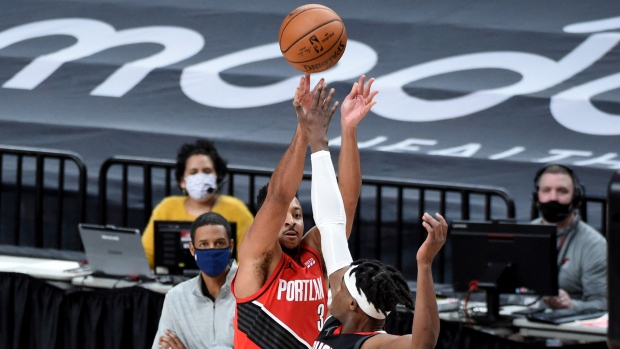 Portland Trail Blazers guard CJ McCollum