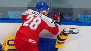 Czech Republic D Krutil banned one game