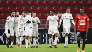 Lyon routs Lorient to move into third spot