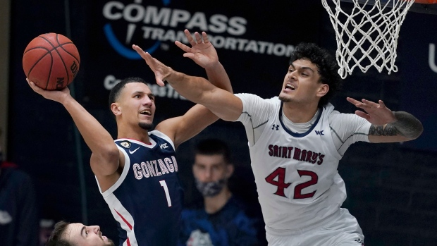 Gonzaga guard Jalen Suggs