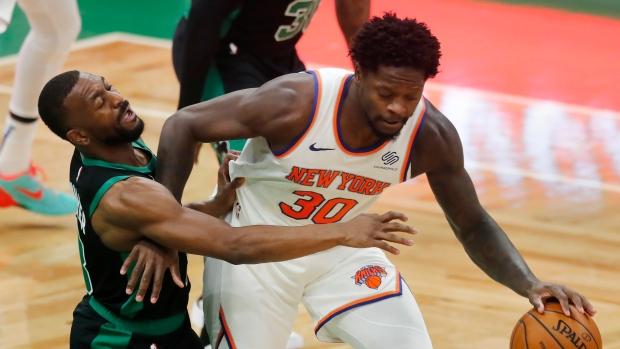 Julius Randle, RJ Barrett double-doubles lead New York Knicks past Boston Celtics