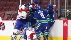 Canucks Habs fight