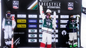 Canadian moguls star Kingsbury returns from injury to win World Cup event