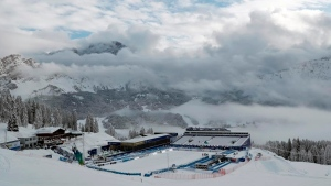 Opening race at ski worlds postponed due to snowstorm