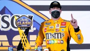 Busch streaks past Elliott, Blaney to win Busch Clash