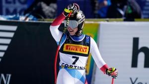 Gut-Behrami wins elusive gold in worlds opener, Shiffrin third