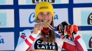 Liensberger ends Shiffrin's gold slalom streak