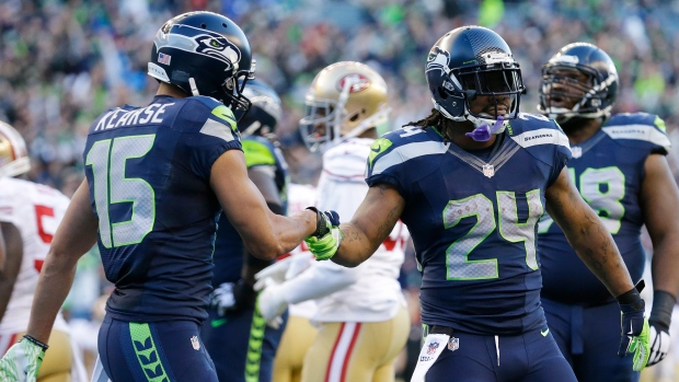 Marshawn Lynch and Jermaine Kearse