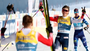 Canadian cross-country skiers finish seventh at world championships