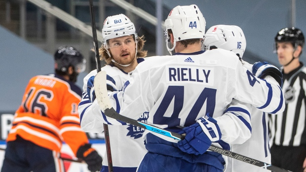 William Nylander and Morgan Rielly