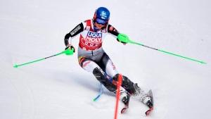 Vlhova leads Shiffrin in first run of slalom in Åre