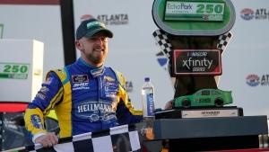 Allgaier holds off Truex to win Atlanta Xfinity race