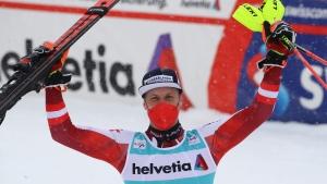Feller wins season-ending World Cup slalom race