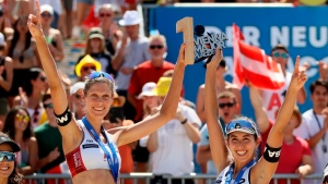 Canada's world champion beach volleyball duo finally getting games before Tokyo