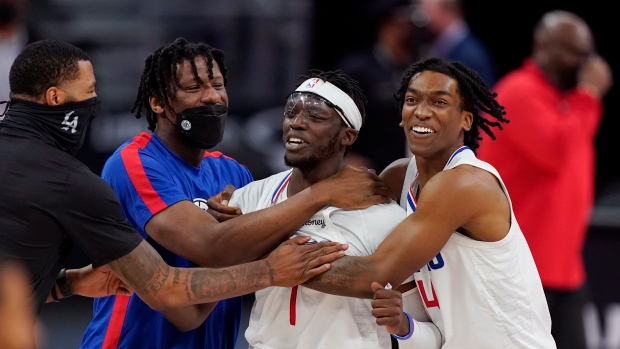 Los Angeles Clippers celebrate
