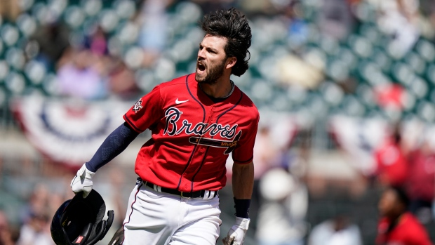 Swanson has two homers, 7 RBI as Braves beat Brewers