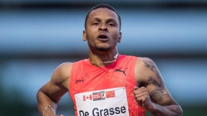 De Grasse and Brown finish third in respective races in Ostrava