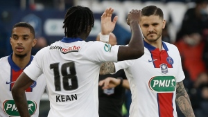 Icardi scores three as PSG routs Angers to reach Cup semis