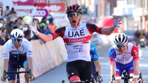 Pogacar outsprints French duo to win Liege-Bastogne-Liege, Canada's Wood fifth
