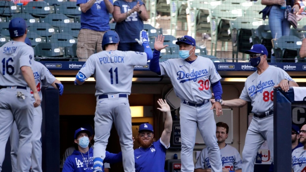 Los Angeles Dodgers celebrate