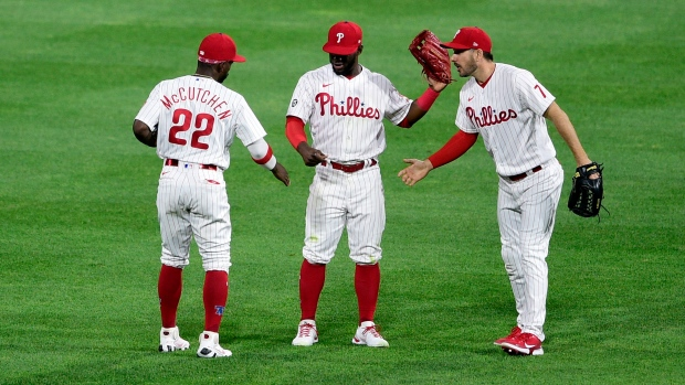 Philadelphia Phillies celebrate