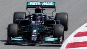 Hamilton tops Bottas in 2nd practice in Spain