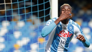 Osimhen nets two as Napoli beats Spezia to boost CL hopes