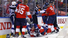 Panthers, Lightning fight after Bennett hit