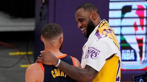 LeBron James' three lifts Los Angeles Lakers over Golden State ...