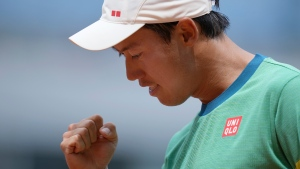 Nishikori grinds out another five-set win at French Open