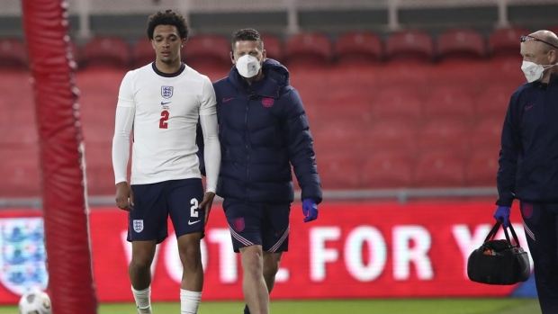 England's TAA out of Euro with thigh injury