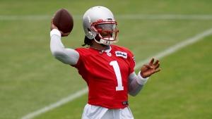 Report: Newton to take regular reps at Patriots' minicamp